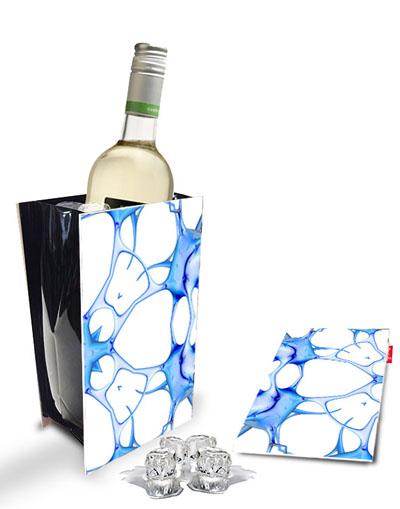 Koeler Met Blauwe Print